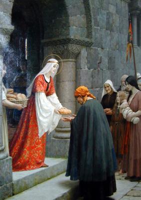 Эдмунд Блэр Лейтон. Благотворительность святой Елизаветы Венгерской