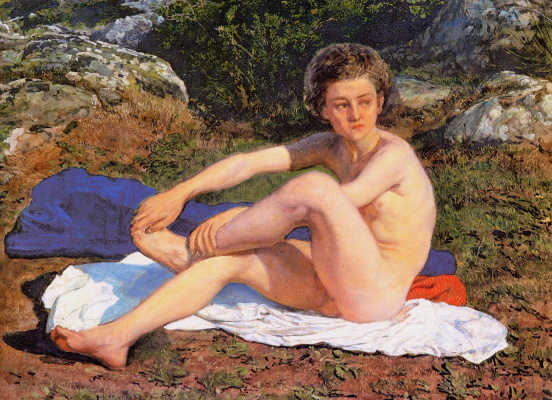 Alexander Andreevich Ivanov. Naked boy