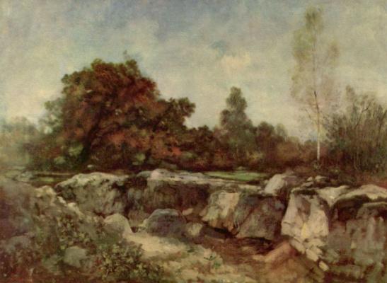 Nicolae Grigorescu. Rocks at Fontainebleau