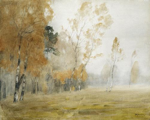 Исаак Ильич Левитан. Осень. Туман
