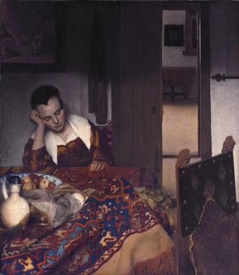 Ян Вермеер. Спящая девушка