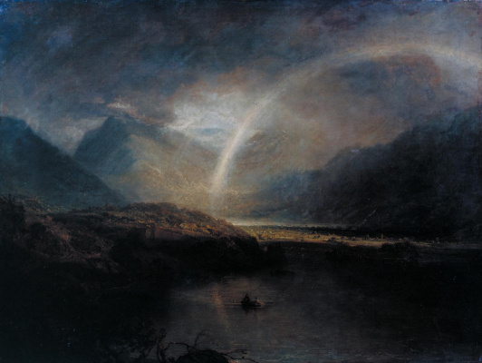 Joseph Mallord William Turner. Buttermere with views Kromekote in Cumberland, a shower