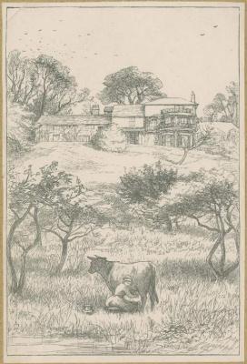 John Everett Millais. Farm Orly. Illustration for the works of Anthony Trollope