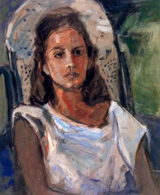 Миро Маиноу. Девушка в белом