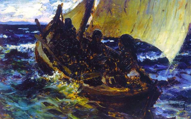 Vasily Dmitrievich Polenov. Barca. Sketch