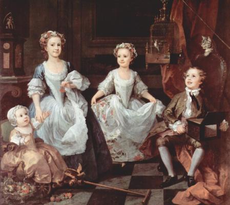 William Hogarth. The children of the family of Graham