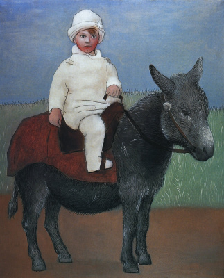 Pablo Picasso. Paul on a donkey
