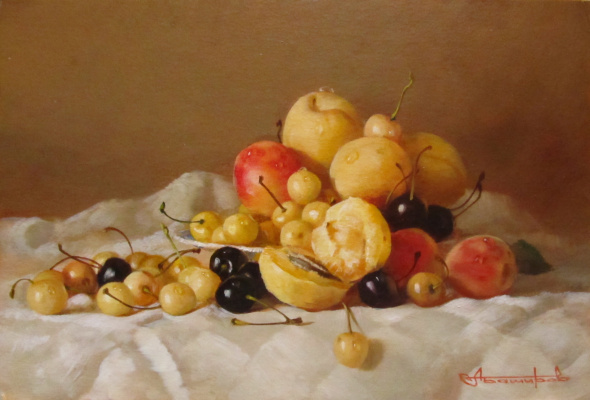 Andrey Bashirov. Apricots in Golden tones.