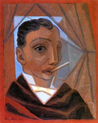 Juan Gris. A man with a cigarette