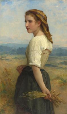 Адольф Бугро Вильям. Сборщица колосьев.  1894