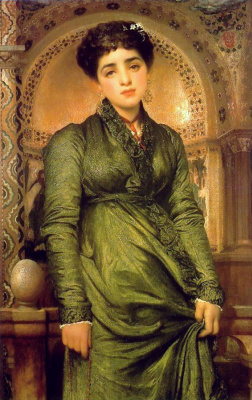 Frederic Leighton. Girl in green