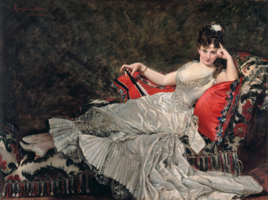 Carolus-Durand. Portrait of Mademoiselle de lancie