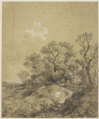 Thomas Gainsborough. Trees on the hill