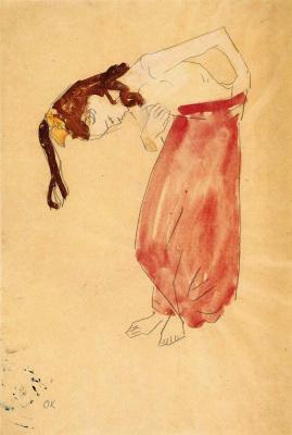 Оскар Кокошка. Девочка с опущенной головой