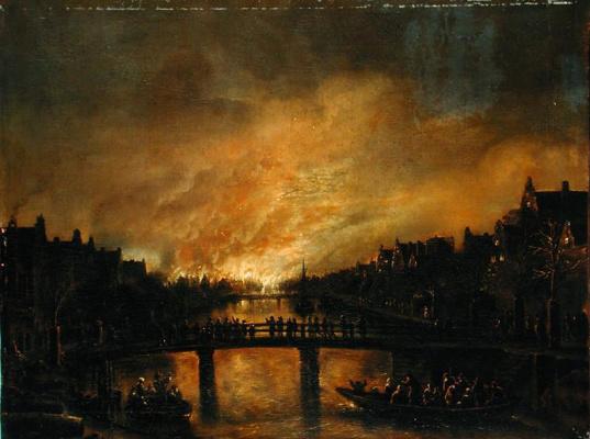 Art van der Ner. Fire in amsterdam