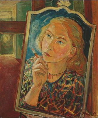 Tove Jansson. Still life with self portrait