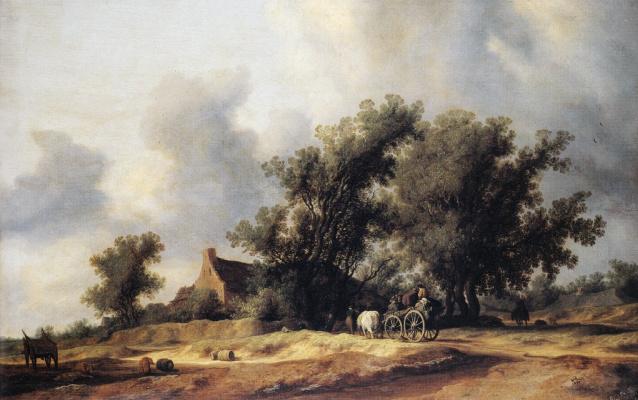 Саломон ван Рёйсдал. Повозка