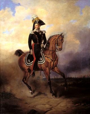 Василий Федорович Тимм. Портрет императора Николая I на коне