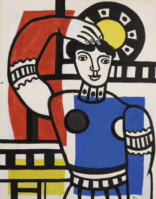 Fernand Leger. Dancer with a tambourine