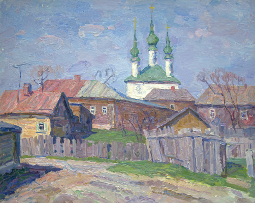 Boris Petrovich Zakharov. Morning in Suzdal. Etude.