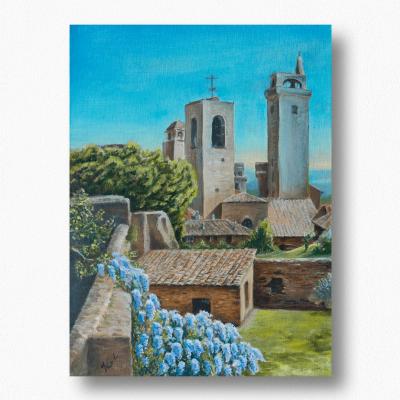 Olga Deikova. San Gimignano Towers