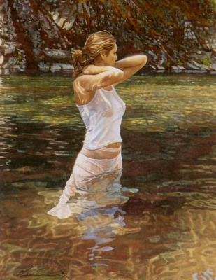 Стив Хэнкс. Девушка в воде