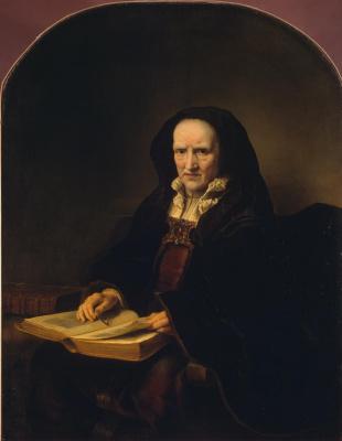 Фердинанд Балтасарс Боль. Портрет старушки с книгой на коленях