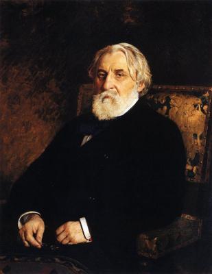 Portrait of writer I. S. Turgenev