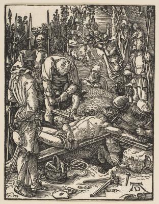 Альбрехт Дюрер. Пригвождение к кресту