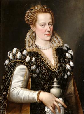 Alessandro Allori. Portrait of Isabella de' Cosimo I de Medici