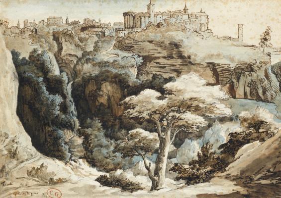 Théodore Géricault. Landscape in Tivoli