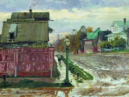 Elena Dmitrievna Polenova. Street in Moscow