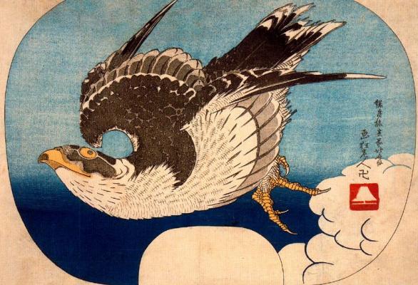 Katsushika Hokusai. A Hawk