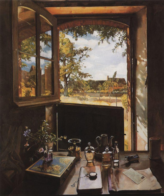 Константин Андреевич Сомов. Открытая дверь в сад