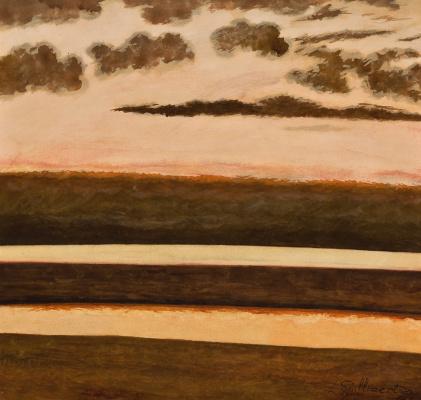 Леон Спиллиарт. Beach and sea at sunset, 1930