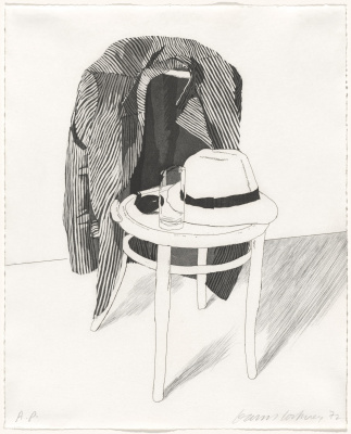 David Hockney. Panama hat