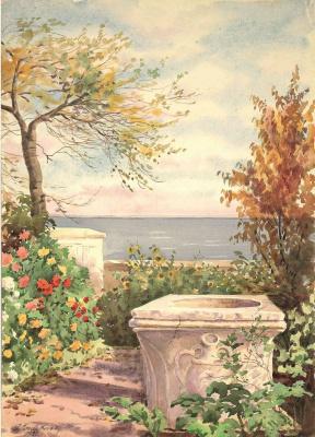 Olga Alexandrovna Romanova. An ancient Italian well in the garden of Vidor