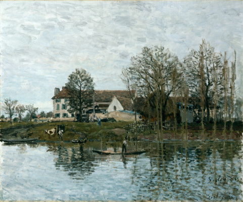 Alfred Sisley. The Seine at port-Marly