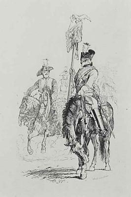 "Adolf Friedrich Erdmann von Menzel. ""The Soldiers of Frederick the Great"", the Personal guard"