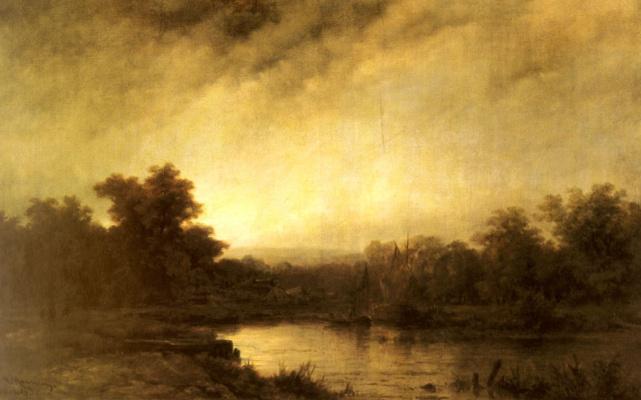 Cornelis van Haarlem. River landscape