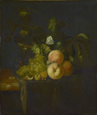 Willem van Aelst. Still life with fruits