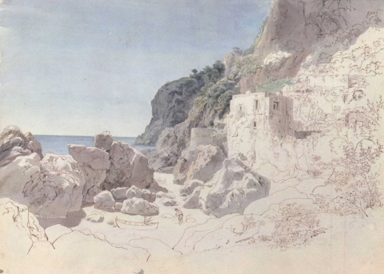 Иоганн Генрих Шильбах. Побережье близ Амальфи