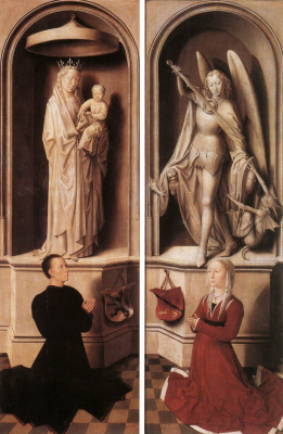 Hans Memling. Judgment. Triptych. The outer side flaps