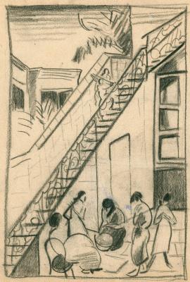 Константин Николаевич Истомин. У лестницы