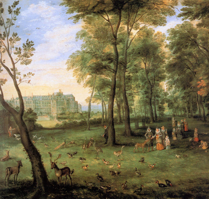 Jan Bruegel The Elder. Walking