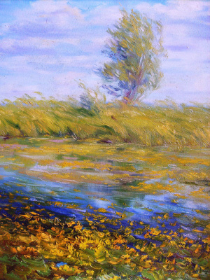Konstantin Leonidovich Antipov. ,, Lake with water lilies ""
