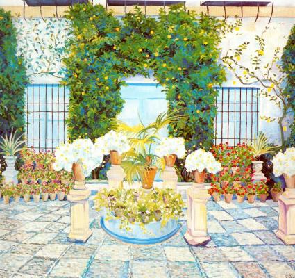 Рафаэль Ботэ. Цветы в саду
