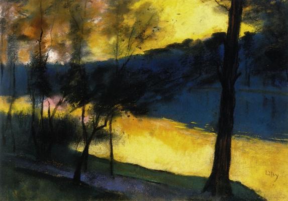 Lesser Uri. Landscape at sunset