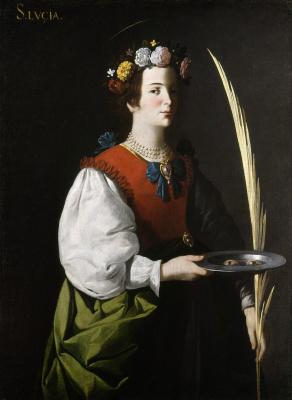Francisco de Zurbaran. St. Lucia