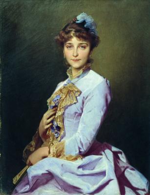 Ivan Kuzmich Makarov. Portrait of an unknown. 1885